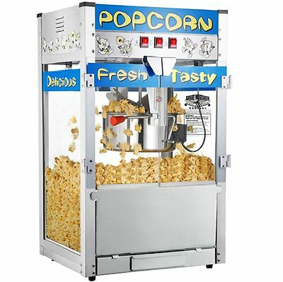 Commercial Kettle Popcorn Popper Maker Machine 12 oz Industrial Movie Theater