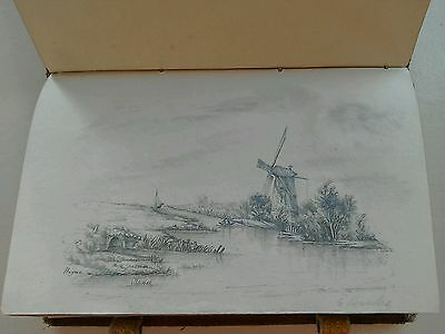 Very Rare Antique Find Of Sketches And Songs In A Tapestry Book Signed Banks