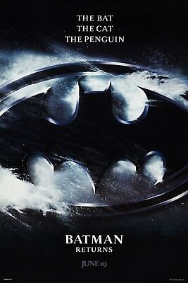 Batman Returns (1992) Original Advance B Movie Poster  -   Rolled