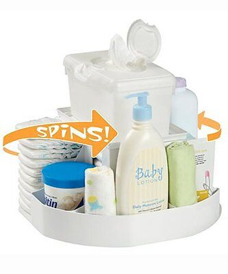 Dexbaby The Spin Changing Station, White Baby Changing Diaper Organizer
