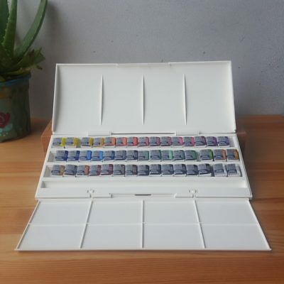 Winsor & Newton 45 Half Pan Palette Cotman Art Students Watercolour Paint Set