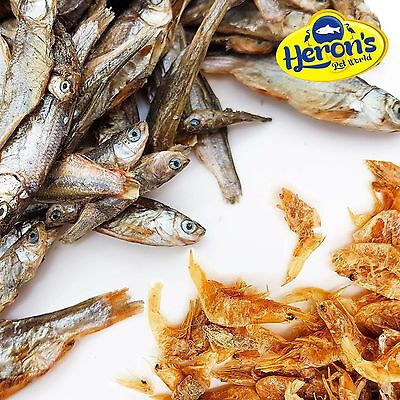 HERONS Dried Shrimp & Fish, small / medium / large TURTLE TERRAPIN CICHLID FOOD