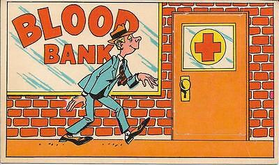 "1970 Topps BLOOD BANK Funny Doors 3"" x 5 1/2"" card # 32 Test Issue?  SCARCE"