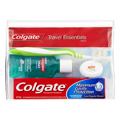 NEW Colgate Dental Care Pack Travel Pack Standard Toothbrushes