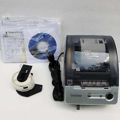 Brother QL-500 P Touch Thermal Label Printer Maker Instructions Included