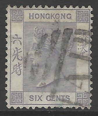 HONG KONG 1863 6c lilac used in AMOY CHINA w/ 'A1' killer cancel/postmark SG#Z10