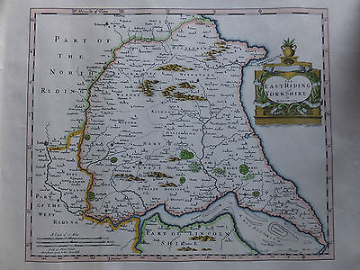 Reproduction - Old Map of the East Riding of Yorkshire by Rob Morden