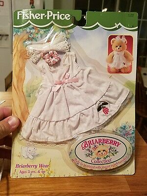 Fisher Price Briarberry Wear bear dress bow Collection   Set #71763