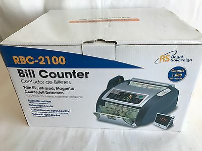 New Royal Sovereign RBC2100 Bill Counter Display UV Counterfeit Detector