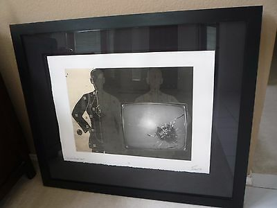 """Jeff Scott print """"TV With Bullet Hole"""" Elvis Collection, was $10,000 in 2009"""
