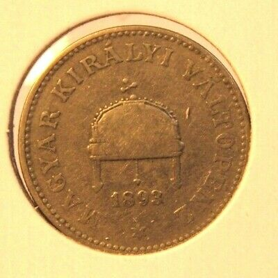 1893 Hungary 20 Filler Nickel Coin with Holder thecoindigger World Coins Estates