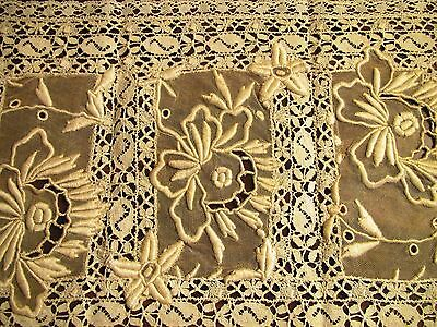 Antique French Normandy LACE Tray Mat Placemat Table Doily Centerpiece