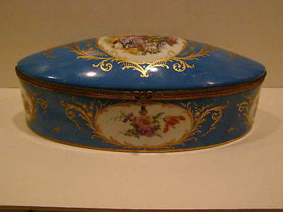 Sevres Style French Covered Dresser Box