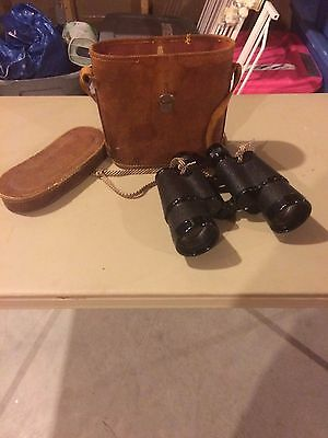 Vintage Southpole Japanese Binoculars 7x50 Field 7.1 No.12219 Coated Lenses