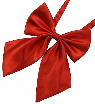DEEP RED Adjustable Pre-Tied Bow Tie FOR WOMEN Ladies Girl Bowtie EVENT WEAR