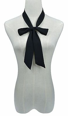 """3 VARIOUS Colors 53"""" Folding Bow Tie for Women Fashion Formal Events"""