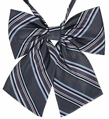 STRIPED Pre-Tied Bow Ties for Women Handmade Fabric Bowtie - ADJUSTABLE