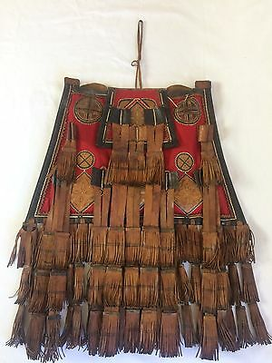 Old African Tuareg Leather Camel Storage Fringe Boho Bag Mali