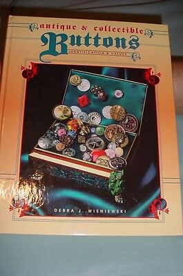 Vtg. Button Price Guide Collector Book Hardback