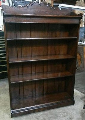 Beautiful  Antique Oak Open Bookcase / Bookshelves .