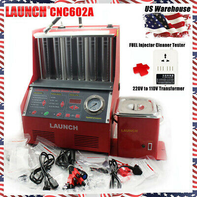 Launch CNC602A Ultrasonic FUEL Injector Cleaner Tester+110V Transformer For US