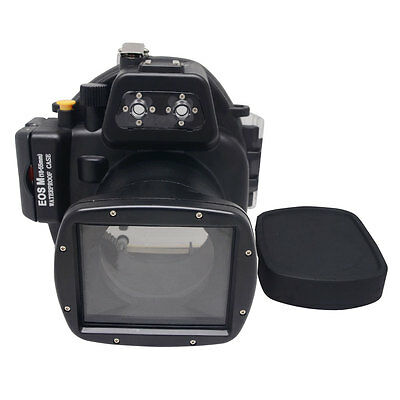 Mcoplus 40m/130ft Underwater Camera Housing Case for Canon EOS M 18-55mm Lens