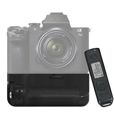 UK Meike MK-A7RII Battery Pack Grip for Sony A7II 2.4G Wireless Remote Control
