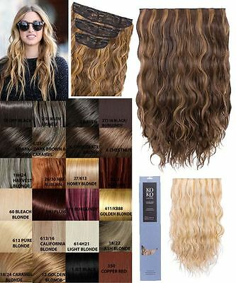 Ladies Wavy Curly 3 Piece Weft Set 20'' Long Synthetic Hair Extension Kylie
