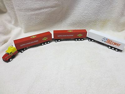 Linfox Road Train Fastway Trailer - Truck & 3 Trailers 1:87 & Ho Scale