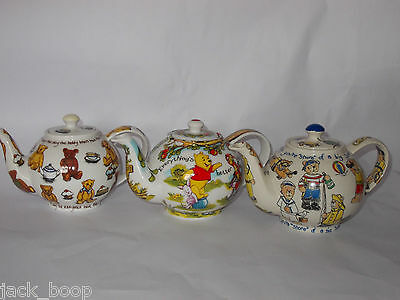 Paul Cardew Collector Teapots 3 Designs Ted Tea, Beach Bears Or Pooh Team Work