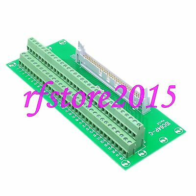 "IDC64 2x32 Pins 0.1"" Male Header Breakout PCB Board 2 Row PLC adapter Interface"