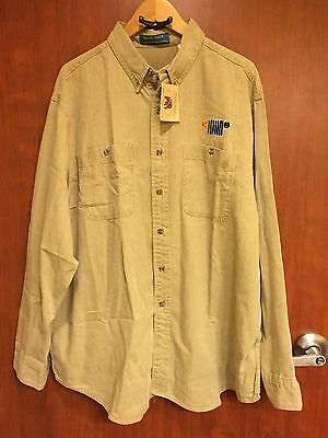 ☀New☀Camp Jeep Shirt 1996 Jeep Logo Embroidered Shirt Cotton Vtg☀