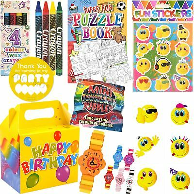 Pre Filled Party Bags Boxes For Birthday Boys Girls Kids Unisex Toys Favours