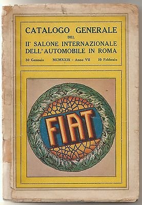 Catalogo Generale Del Ii Salone Internazionale Dell'automobile In Roma 1929