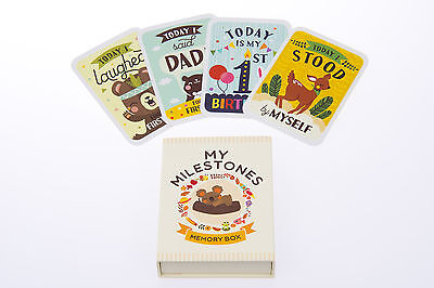 Baby Milestone Cards, Baby Photo Cards - Includes Gorgeous Keepsake Box & Poster