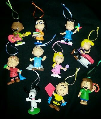 The Peanuts Gang Christmas Ornament set of 10- Anniversary Collection