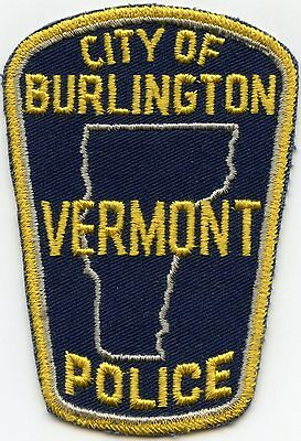 VERY old vintage BURLINGTON VERMONT VT POLICE PATCH