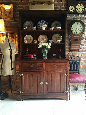 Antique Stained Pine Welsh Dresser Solid Pine Farmhouse