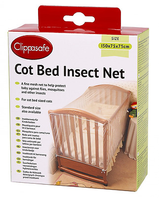 Clippasafe Cot Bed Insect Net - Travel Universal Pushchair Pram Free UK P&P