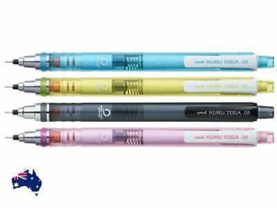 Uni Kuru Toga Mechanical Pencil 0.5mm M5-450T Smoke Blue Green Pink