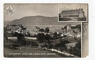 CARLINGFORD LOUGH, & L&NW HOTEL, GREENORE: Co Louth Ireland postcard (JH1795)