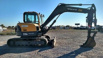 2011 Volvo ECR88 Cab A/C Small Excavator only 2088 hrs