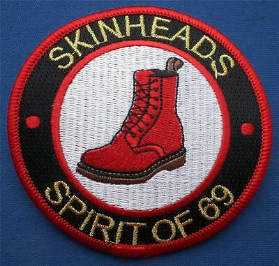 Skinhead Ska Reggae Patch - Skinheads Spirit Of 69 - Dm Boot