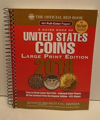 2018 Official Red Book Guide Book Of United States Coins Large Print R.S. Yeoman