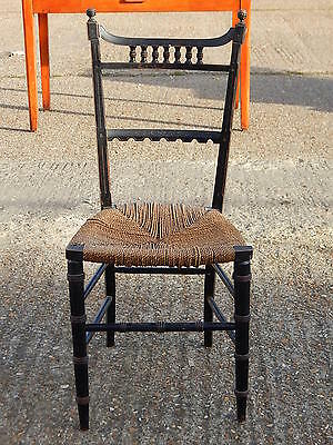 Antique aesthetic movement strung seated chair ideal bedroom / dining / hall