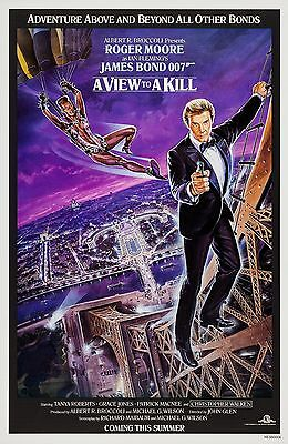A View To A Kill (1985) Original Advance A Movie Poster  -  Rolled