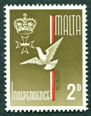 MALTA 1964 2d olive-brown, red and gold SG321 mint MNH FG Independence #W18