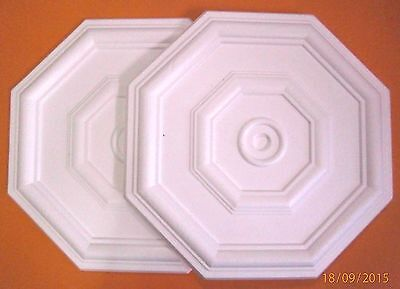 *Decorators Bargain* - 2 x Polystyrene Ceiling Rose 460mm<> Slightly Shop Soiled