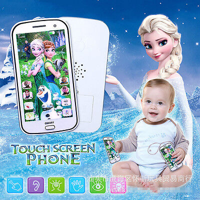 Fun Frozen Figures Educational Learning Mobile Phone Kids Boy Girl Baby Toy Gift