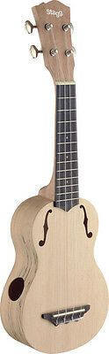 STAGG USX-SPA-S Ukulele soprano traditionnel avec table en épicéa massif